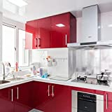 Pegatina de vinilo perlada, de 60 x 200 cm, para renovación de muebles, de EMVANV, Rojo, Tamaño...