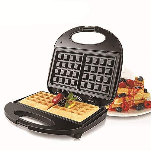 3-in-1 wafelijzer, tosti-ijzer met antiaanbaklaag voor wafels, panini's, hash browns voor onderweg, ontbijt, lunch of snacks