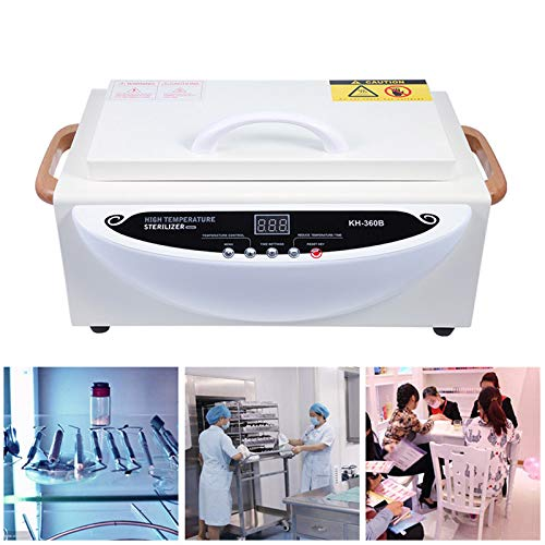 Hochtemperatur-Desinfektionsschrank, Trockenwärme Multifunktionale Heißtuchwärmerbox Professionelle medizinische Ausrüstung für Beauty Nail Metal Tools 300W,White