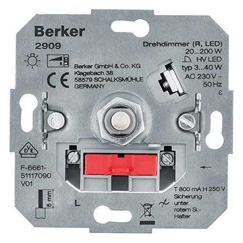 Berker Drehdimmer (R, LED) 2909 Lichtsteuerung HAUSELEKTRONIK;LICHTSTEUERUNG Dimmer 4011334510055