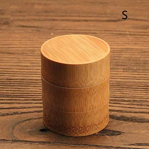 Tea Box Teiera Set da Viaggio Outdoor Vaso sigillato Lattine Regali Xuniu Porable Bamboo Tea Caddy
