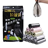 BingYELH 5 Gallon Small Garbage Bags 100 Counts Durable Disposable Waste Trash Bags   Plastic Bathroom Trash Can Liners Gold