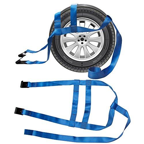 CarBole Spanngurte, 2 Stück, rutschfest, verstellbar, strapazierfähig, für Auto, Transporter, Anhänger, Abschleppseil mit flachen Haken für Transporter, LKW, Geländewagen, Geländewagen, Blau