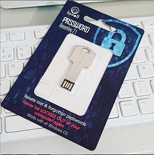 Password Reset Key 2.0, Strumento per reimpostare, recuperare e sbloccare password su PC o laptop con sistema Windows, incluso Windows 10