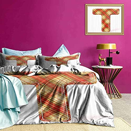 Tagesdecken Bettdecke ABC Retro Kleidung Retro Printing Bettw?sche Set Leicht zu pflegen & hat EIN sauberes, frisches Aussehen