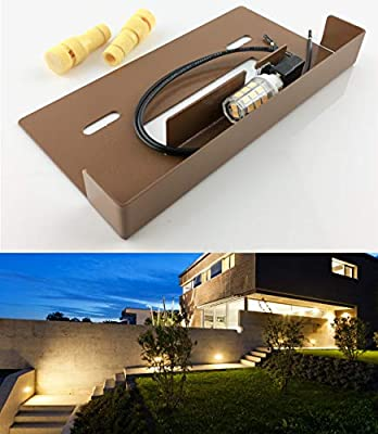 SRRB Direct Low Voltage Hardscape Paver Recessed Retaining Wall Step Light Fixture w/LED Bulb