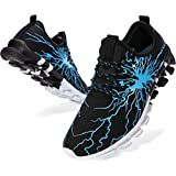 BRONAX Blue Sneakers for Men Colorful Designer Light Lace up Size 7 Walking Gym Running Tennis Workout Training Sport Shoes Mens