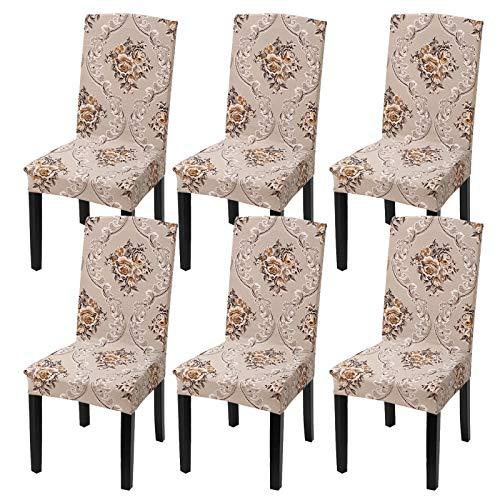 Fuloon Coprisedie con Schienale, Fodere per sedie Lavabili Removibili per Hotel Sala da Pranzo...