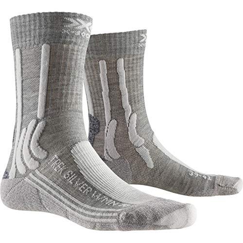 X-Socks Trek Silver, Calzini da Escursionismo Donna, Dolomite Grey Melange/Pearl Gr, 41-42