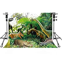 恐竜バックドロップ 森 ジュラシック 写真 背景 MEETSIOY 7x5フィート テーマ パーティー 写真ブース YouTube背景 PMT680