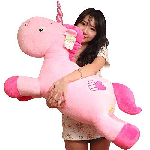Aardvark Art Licorne peluche coussin animaux doux cadeaux (Pink)