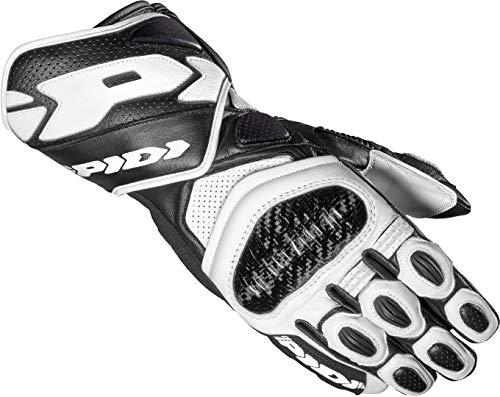 Spidi Carbo 7 Motorradhandschuhe Schwarz/Weiß L