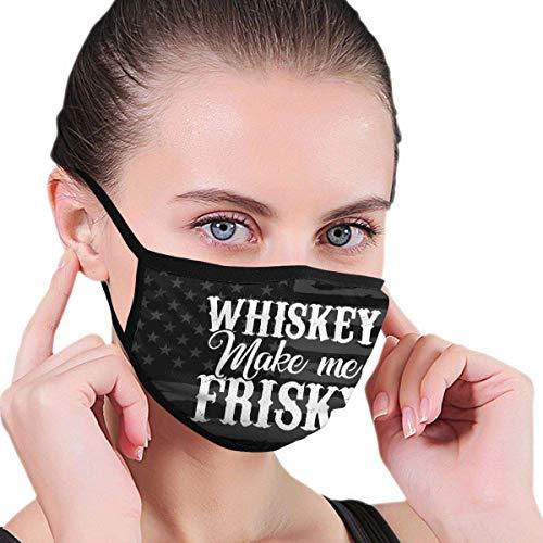 Cover Mask Whiskey Maak Me Frisky Balaclava Earloop Hoofddeksels Wasbaar Outdoor Herbruikbare Gezicht Covers Multifunctionele School Fietsen Mode Werk Winter Kleurrijke afdrukken
