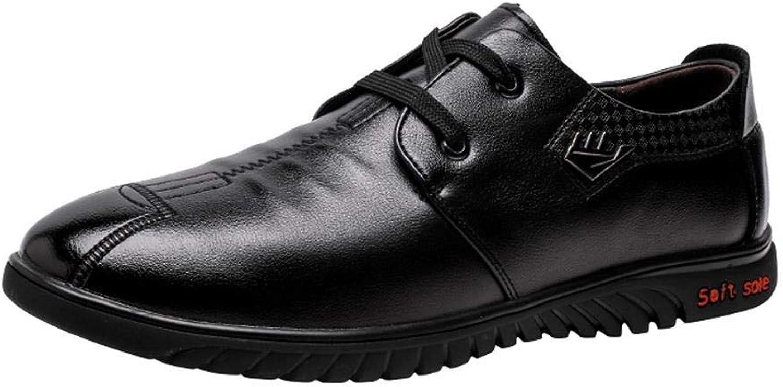 EGS-schuhe Fashian Herrenschuhe Freizeitschuhe Youth Board Schuhe Business Dress Herren Flache Schuhe,Grille Schuhe (Farbe   Schwarz, Größe   41)