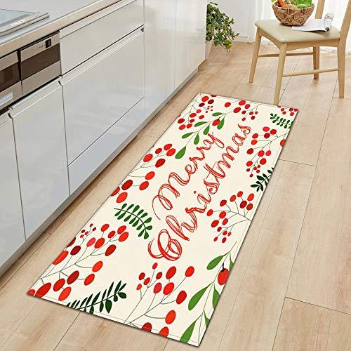 XIAOZHANG kitchen mat non slip washable Plant decoration art Crystal velvet door mat indoor outdoor carpet corridor floor bedroom living room study rugs Non-slip absorbent 40x120CM