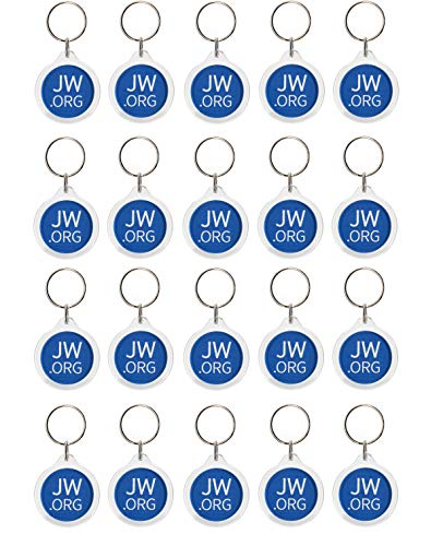 Jw.org No Blood Double Sided Key Chain for Jehovah's Witnesses-Round-20 Pack