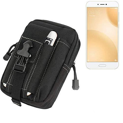 K-S-Trade Gürtel Tasche Für Xiaomi Mi 5c Gürteltasche Holster Schutzhülle Handy Hülle Smartphone Outdoor Handyhülle Schwarz Zusatzfächer