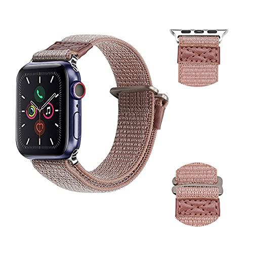 Correa de bucle individual trenzada deportiva compatible con la correa de Apple Watch 38/40/42 /44 mm, elásticos sin hebillas Pulsera de repuesto de nailon para Iwatch Series 6/5/4/3,38mm/40mm