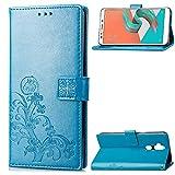 HUANGTAOLI Cover per ASUS Zenfone 5 Lite ZC600KL, Cover a Libro con Funzione Stand e Porta Carte Chiusura Magnetica Portafoglio (6.0 Pollici)