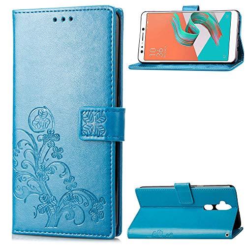 """HUANGTAOLI Cover per ASUS Zenfone 5 Lite ZC600KL, Cover a Libro con Funzione Stand e Porta Carte Chiusura Magnetica Portafoglio (X017DA, 6.0"""")"""