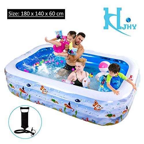 YLAN - Piscina hinchable para niños, piscina hinchable para niños, centro de juegos de agua, tamaño completo, para interior y exterior