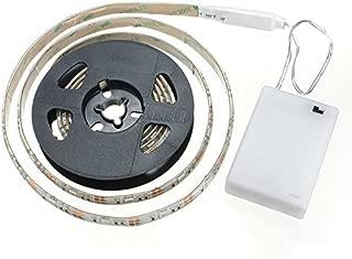 cuzile tira luz LED Color Blanco 100 cm 33 in. + Batería Caja + interruptor, funciona con pilas, blanco cálido 5.0volts