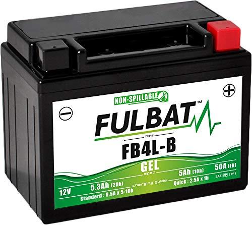 Fulbat - Batería moto Gel YB4L-B / FB4L-B 12V 5Ah