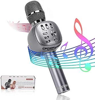 Nine Cube 3-in-1 Portable Wireless Bluetooth Karaoke Microphone