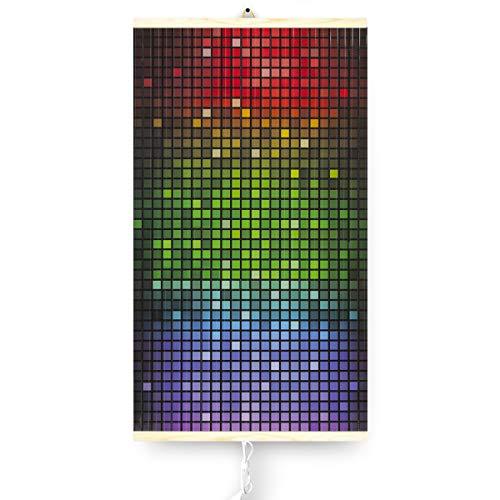 Trio Infrarotheizung Thermostat Bildheizung Heizpaneel Infrarot Heizkörper 430W Elektro Heizung mit Motiv 100x57cm (Mosaik)