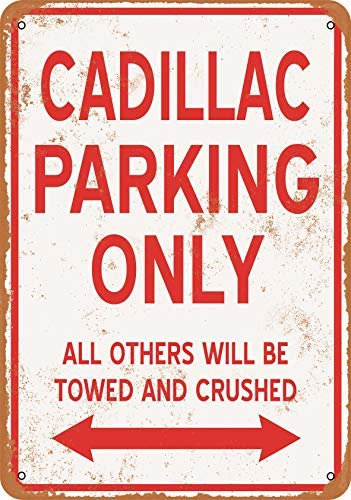 BRILLON Cadillac Parking Only Blechschild, Vintage-Look, 20,3 x 30,5 cm