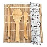 9 Kit De Preparación De Sushi De Bambú, Incluidas 2 Tapetes Laminadores 5 Palillos 1 Palet 1 Conjunto De Herramientas De Chef De Hoja De Sushi