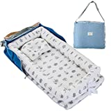 TEALP Reducteur de lit Bebe Cocon, réducteur Lit Bébé, Nid pour nouveau-né nourrisson, baby nest pour bébé couffin de voyage portable, couronne grise