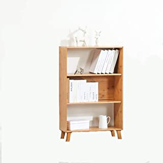 Strong Sturdy Modern Simple Bookshelf,Solid wood Floor-standing Storage rack MULTIPURPOSE Easy assembly Display rack For h...