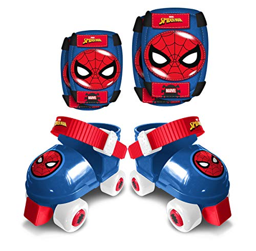 Stamp Set : Rollers, E/K Pads, Spiderman Size 23-27, Boys, Azul, 23-24