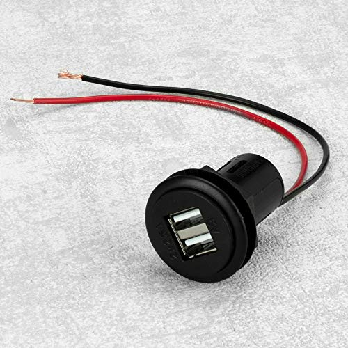 Dual USB Einbau- und Ladebuchse 5A, zum Betreiben und Laden von Smartphones, Navis, Digitalkameras etc. am 12-24V Bordnetz