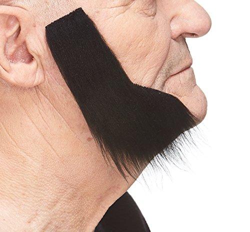 Mustaches Patillas morenas largas y frondosas