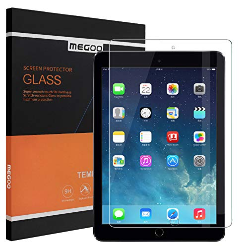 MEGOO Screen Protector For Apple iPad Pro 12.9 inch (2015 and 2017 Model), Easy Installation, high Definition,Anti-Scratch Friendly Touching Also Compatible For iPad A1584/A1652/A1670/A1671