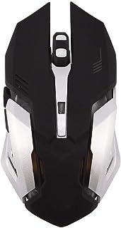KSTE 2.4G Optical Wireless Gaming Mouse Rechargeable Silent Mice Adjustable DPI LED Light Black