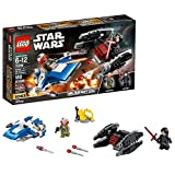 LEGO Star Wars: The Last Jedi A-Wing vs. TIE Silencer Microfighters 75196 Building Kit (188 Pieces) (Discontinued by Manufacturer)