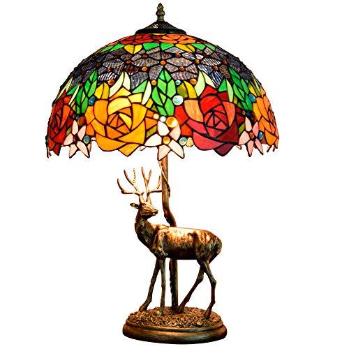 Tiffany tischlampe Rokoko tischlampe Barock tischlampe CE zertifizierung 2 Kopf Lampe Harz Basis...