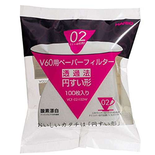 Hario Papierfilter made in Netherlands / Filtertüten Misarashi, mittel für V60-02, 100 Stück