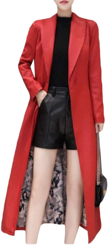 Cobama Women's Faux Fur Coats Belt Windbreaker Padded Casual Overcoat