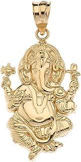 10k Hindu Lord Ganesh Ganesha Elephant Hindu God of Fortune Charm Pendant