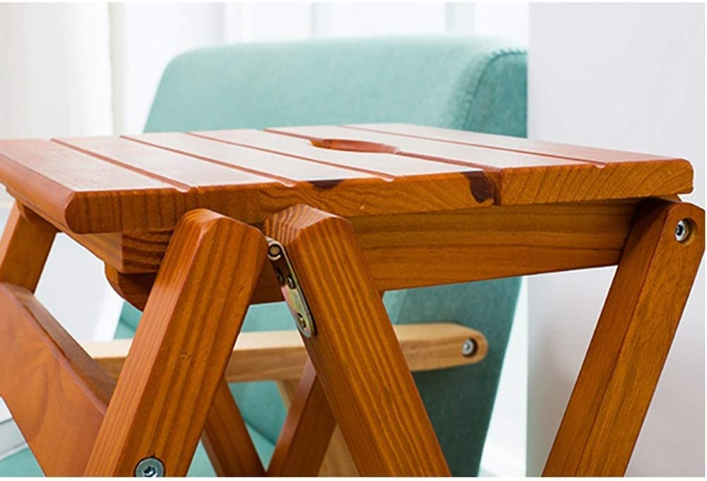Chaise pour adulte en 2 étapes, tabouret en bois, tabouret pour enfant, intérieur en noyer clair (couleur : noyer clair) Noyer Clair.