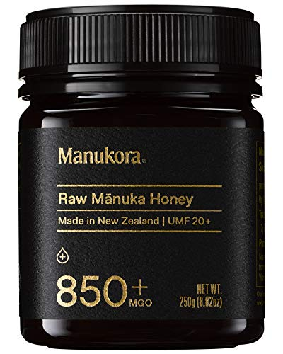 Manukora UMF 20+/MGO 850+ Raw Mānuka Honey (250g/8.8oz) Authentic Non-GMO New Zealand Honey, UMF & MGO Certified, Traceable from Hive to Hand