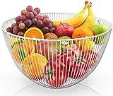 DMAR Frutero de Metal Blanco Cesta de Frutas Grande Fruteros de Cocina Modernos Fruit Basket