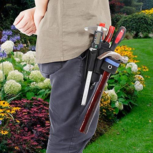 RBSD Bolsa de Herramientas Duradera, diseño de múltiples Bolsillos engrosados Portaherramientas de jardín, Tela Oxford para Llave Inglesa