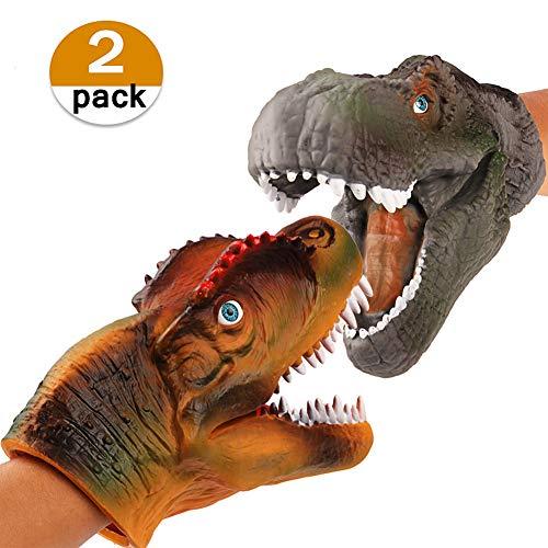 Vamei 2 unids Dinosaurios Juguetes marioneta marioneta