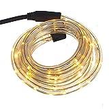 Smartfox LED Lichterschlauch Lichterkette Licht Schlauch 4m für Innen- und Aussenbereich mit 96 LEDs in Warmweiß
