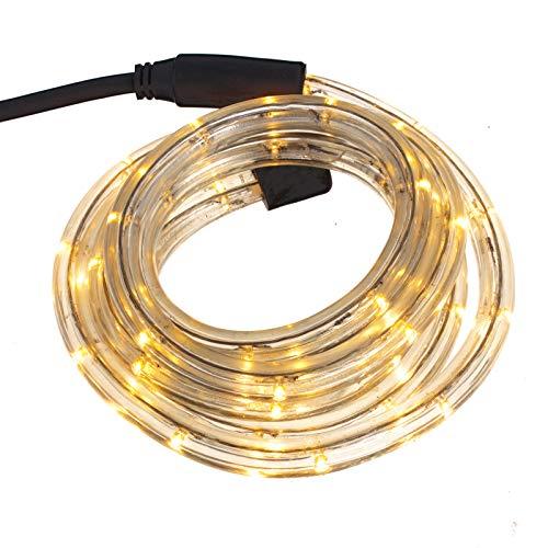Smartfox LED Lichterschlauch Lichterkette Licht Schlauch 5m für Innen- und Aussenbereich mit 120 LEDs in warm weiß